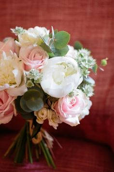 rose and eucalyptus wedding bouquet // photo by LisaDawn.co.uk