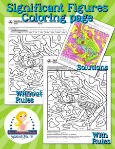 Finally! A FUN way to review sig figs for science class! Check out this great significant figures coloring review coloring page - awesome for back to school or as part of a sub plan in science, chemistry, biology, physical science and physics class.