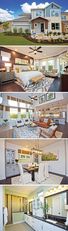 Soaring ceilings open up your home and help create free-flowing transitions from room to room! The Webster is located in Harper Park, a gated community in Austin, TX.