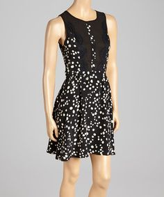 Another great find on #zulily! Black Dot Sleeveless Dress by Andrée #zulilyfinds