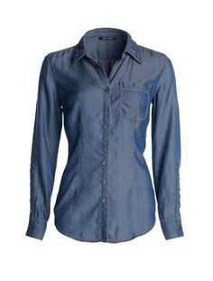 DRAPEY DENIM SHIRT