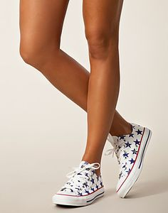 All Star Print Ox - Converse - White/blue - Everyday shoes - Shoes - NELLY.COM UK