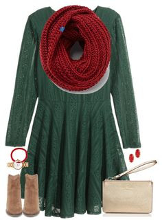 deck the halls.. by kaley-ii on Polyvore featuring H&M, Keds, Steve Madden, Kate Spade, Kendra Scott and Aid Through Trade