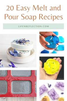 20 Easy Melt and Pour Soap Recipes For Beginners Soap Making Recipes, Soap Recipes, Body Scrub Recipe, Soap Supplies, Recipes For Beginners, Soap Base, Castile Soap, Home Made Soap, Diy And Crafts