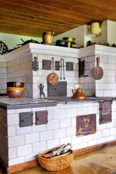 Polish style all in one ceramic, masonry heater, cookstove and bread oven