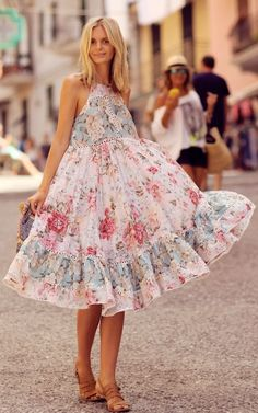 Floral Inspiration Dress by Tuula