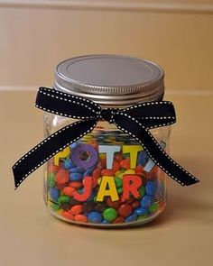 Potty training jar