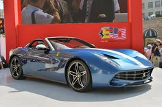 The event was held to celebrate sixty years since the iconic Italian company started selling its cars on the U.S. market