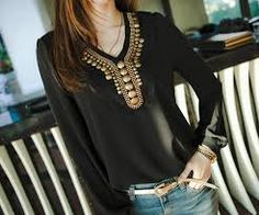 Image result for types of bead embroidery blouse