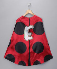Love this Red & Black Ladybug Initial Cape on #zulily! #zulilyfinds