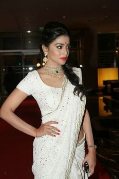Shriya Saran Hot Saree Stills