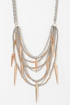 Parkland Spiked Necklace  #UrbanOutfitters