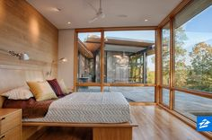 Wake up to a view every morning in this one-of-a-kind bedroom.