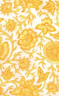 floral hand-block printed fabric by Rikshaw Design