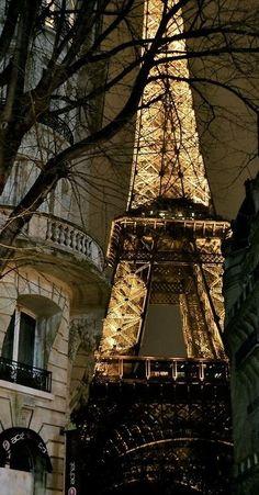 Eiffel Tower at night