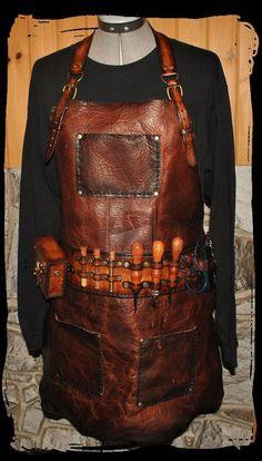 leathercraft leaterwork magnífico delantal de trabajo