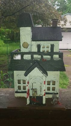 12 Inch Handcrafted Zombie Haunted House