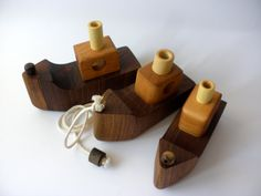 Wooden pull toy - BOAT -