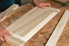 Making raised-panel doors on a tablesaw - Fine Homebuilding Article Shaker Style Cabinet Doors, Diy Cabinet Doors, Making Cabinet Doors, Cabinet Ideas, Building Kitchen Cabinets, Diy Kitchen Cabinets, Cupboards, Raised Panel Cabinet Doors, Diy Door