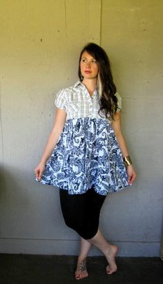 20 off Eco upcycled clothing Bohemian dress by lillienoradrygoods, $62.50