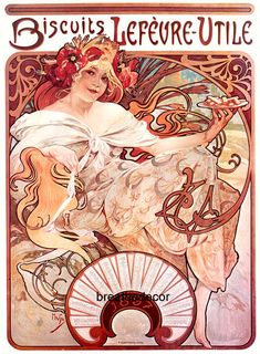 Art Nouveau Vintage Advertising Alphonse Mucha Digital Download Print