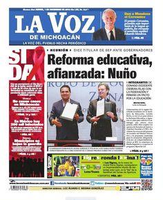 ¡Excelente inicio de mes! Recuerda checar nuestra edición impresa de La Voz de Michoacán de este jueves de 1 de diciembre: