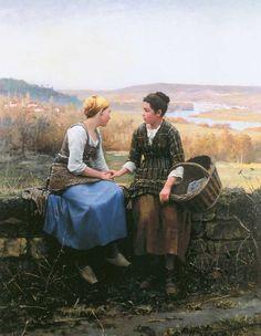 Mormon Pioneers | Mormon Art Show: LDS Art : Very Cool Pioneer Girls