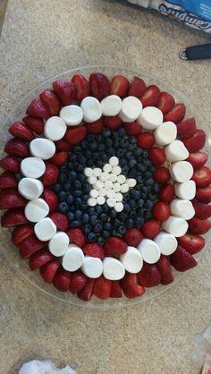 Captain America Shield Fruit Plate More