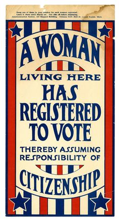 American women and the right to vote, in pictures Get Out The Vote, Right To Vote, Women Suffragette, 19th Amendment, Suffrage Movement, Consumer Culture, American Women, American History, Name Signs
