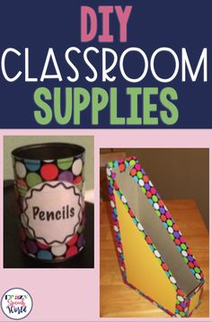 DIY school supplies for the classroom