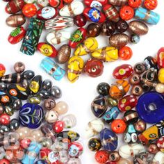 £2.99  Traditional Handmade Lampwork Glass Beads Assorted Sizes/Shapes/Colours 250g