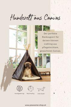 Das Hundezelt: Der perfekte Rückzugsort für deinen kleinen Liebling aus pflegeleichtem, gewachsten Canvas.Die Form eines Zeltes gibt deinem Liebling das Gefühl von Komfort und Sicherheit. Das Zelt ist schnell und einfach aufgebaut.Das Kissen ist waschbar bei 30°C.Abmessungen: 70 x 70 x 90 cm Adoption, Komfort, Form, Tricks, Movie Posters, Inspiration, Dog Tent, Dog Accessories, Bunnies