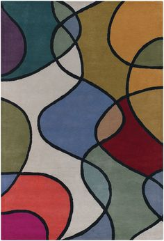 'Bense - 3011 - Patterned Rectangular Contemporary Area Rug by Chandra. @2Modern'