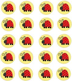 Sweet Ladybugs: Free Printable Toppers and Wrappers Cupcakes. Baby Ladybug, Ladybug Party, Cupcake Art, Cupcake Toppers, Ladybug Pretzels, Ladybug Invitations, Teacher Bulletin Boards, Ladybug Cupcakes, Creative Party Ideas