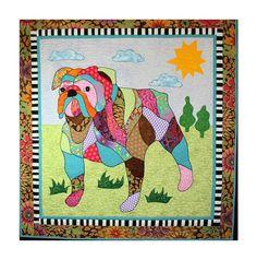 BJ Designs & Patterns Max the Bulldog Dog Applique Quilt Pattern