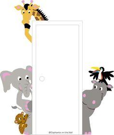 mural around doorway | how fun for around the door in a kid's room or playroom!