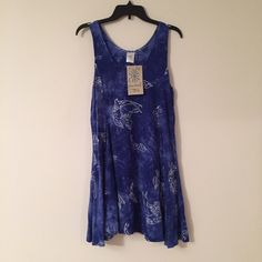 d58f523a03 Blue Tie-Dye Dolphin Dress In perfect condition. It is light and flowy which