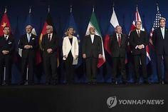 이란 핵협상에 참여한 주요 6개국 대표들