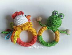 Crochet Baby Toys, Newborn Crochet, Baby Knitting, Knit Crochet, Baby Rattle, Crochet Accessories, Ladybug, Free Pattern, Crochet Earrings