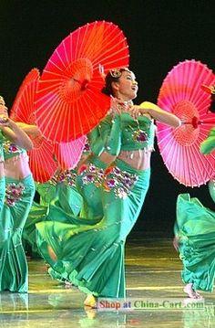 Chinese Umbrella Dance. Umbrellas are fun to dance with.