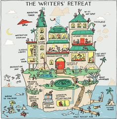 The Writers' Retreat - Grant Snider for NYTimes.com