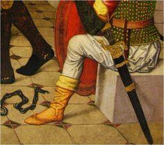 H. 1491-1493, Galcerán Liberation of Pines Altarpiece of San Esteban (Granollers), Pau Vergós Museu Nacional d'Art de Catalunya (detail)