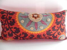 Suzani 3Park 10X20 Tribal Print Pillow Cover by PillowChix on Etsy, $42.00