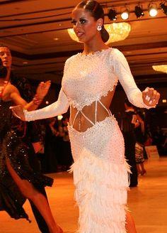 http://www.dancemothers.com/ white Latin costume