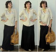 blog v@ LOOKS | por leila diniz: LOOK: saia longa preta + detalhes dourados + sorrisão / DEUS: sigamos sempre pela trilha da verdade