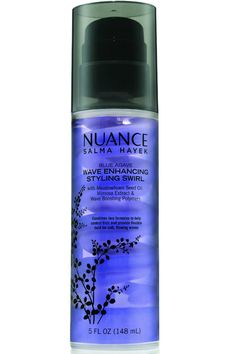 This gentle styling cream keeps frizz in check and waves touchably soft for a natural, born-with-it look.  Nuance Salma Hayek Blue Agave Wave Enhancing Styling Swirl, $13; cvs.com   - MarieClaire.com