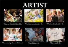 what my friends think i do what i actually do artist