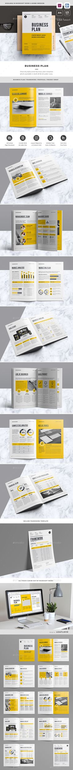 Business Plan Design Template - Proposals & Invoices Stationery Design Template InDesign INDD. Download here: https://graphicriver.net/item/business-plan/19353421?ref=yinkira
