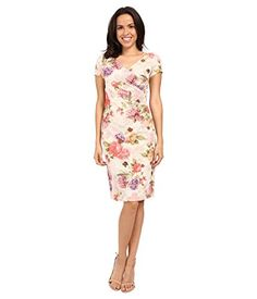 Adrianna Papell Women's Mattelasse Pleat Wrap Dress Pink Multi Dress 4 V-neckline highlights the surplice bodice. Short sleeves. Straight hemline hits at a modest length. Back hook and zipper closure. Fully lined. 83% polyester, 12% metallic, 5% elastane;Lining: 100% polyester. Dry clean only. Related Post                          Macklemore & Ryan Lewis – Downtown (Tom...