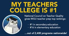 WGU Teachers College Earns #1 Ranking